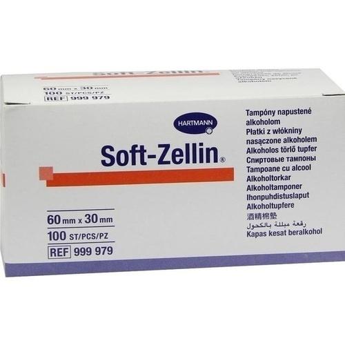 Soft-Zellin Alkohol Tupfer 60x30mm, 100 ST, Paul Hartmann AG