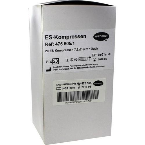 ES-Kompressen steril 7.5x7.5cm Großpackung, 5X20 ST, Paul Hartmann AG