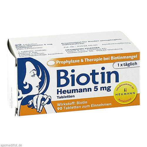 Biotin Heumann 5mg Tabletten, 90 ST, Heumann Pharma GmbH & Co. Generica KG