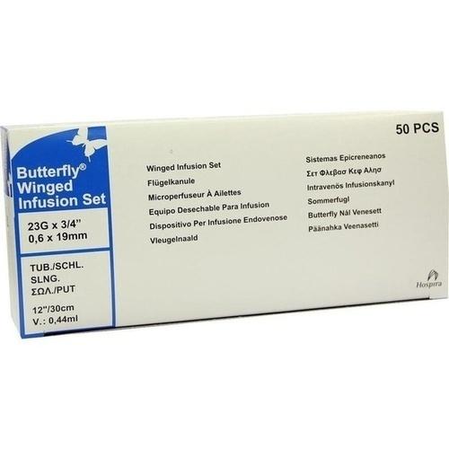 BUTTERFLY Kanüle 23 G blau, 50 ST, ICU Medical Germany GmbH