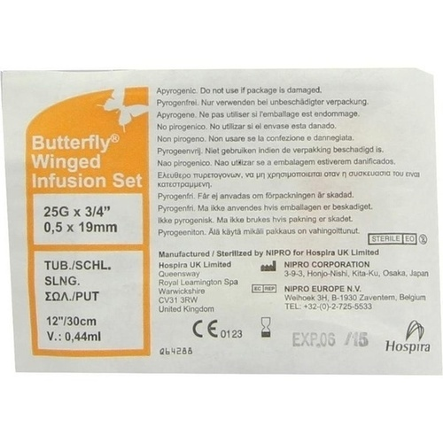 Infusionszubehör Butterfly 25G orange, 1 ST, ICU Medical Germany GmbH