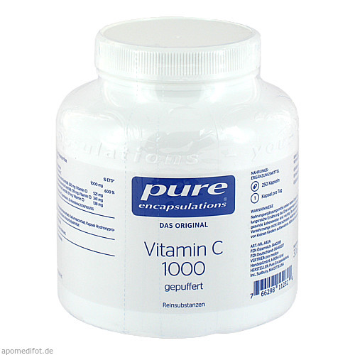 PURE ENCAPSULATIONS Vitamin C 1000 GEPUFFERT, 250 ST, Pro Medico GmbH