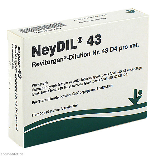 NEYDIL Nr.43 Revitorgan Dil.D 4 pro Ampullen vet., 5X2 ML, vitOrgan Arzneimittel GmbH