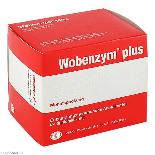 WOBENZYM Plus magensaftresistente Tabletten, 200 ST, MUCOS Pharma GmbH & Co. KG