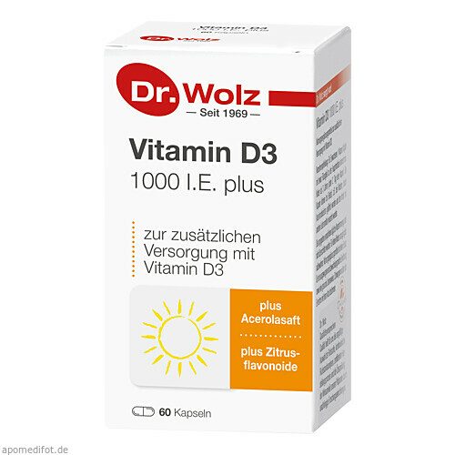 Vitamin D3 1000 I.E. plus Dr. Wolz, 60 ST, Dr. Wolz Zell GmbH