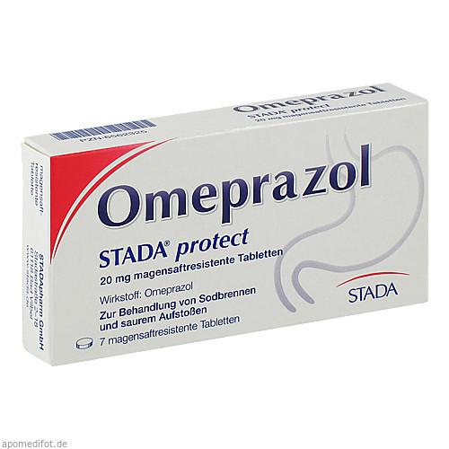 Omeprazol STADA protect 20mg magensaftres. Tabl., 7 ST, STADAPHARM GmbH