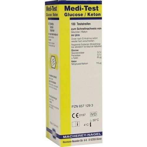 Medi-Test Glucose / Keton, 100 ST, Macherey-Nagel GmbH & Co. KG