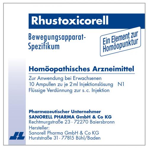 RHUSTOXICORELL Injektionslösung, 10X2 ML, sanorell pharma GmbH & Co KG