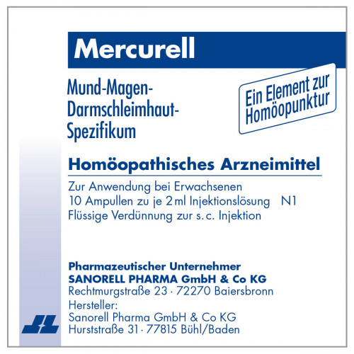 Mercurell, 10X2 ML, sanorell pharma GmbH & Co KG
