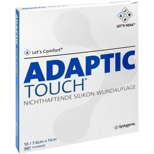 ADAPTIC Touch 7.6x11cm nichthaft.Silikon Wundaufl., 10 ST, Kci Medizinprodukte GmbH