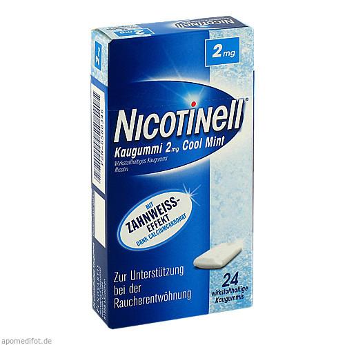 Nicotinell Kaugummi Cool Mint 2mg, 24 ST, GlaxoSmithKline Consumer Healthcare GmbH & Co. KG