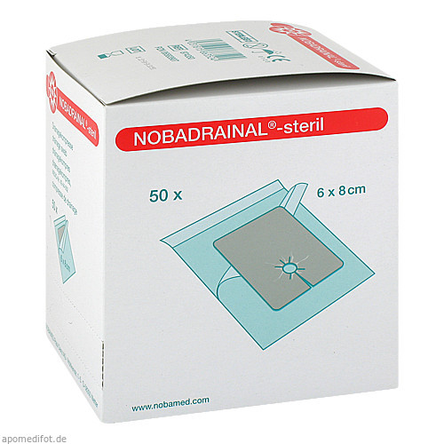 SET NOBADRAINAL 6x8cm, 50 ST, Nobamed Paul Danz AG
