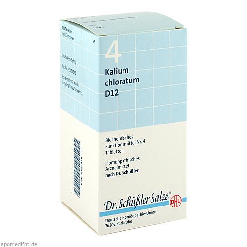 BIOCHEMIE DHU 4 Kalium chloratum D12 Tabl., 420 ST, Dhu-Arzneimittel GmbH & Co. KG