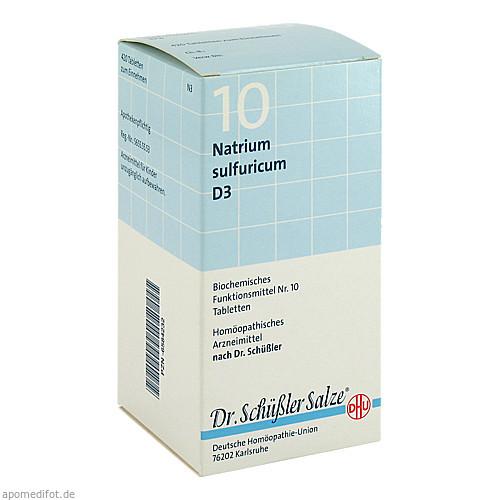 BIOCHEMIE DHU 10 Natrium sulfuricum D 3 Tabl., 420 ST, Dhu-Arzneimittel GmbH & Co. KG
