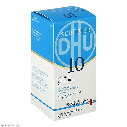 BIOCHEMIE DHU 10 Natrium sulfuricum D 6 Tabl., 420 ST, Dhu-Arzneimittel GmbH & Co. KG