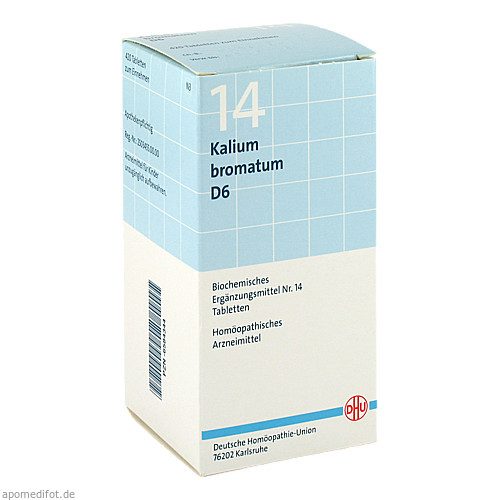 BIOCHEMIE DHU 14 Kalium bromatum D 6 Tabl., 420 ST, Dhu-Arzneimittel GmbH & Co. KG