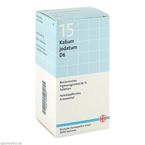 BIOCHEMIE DHU 15 Kalium jodatum D 6 Tabl., 420 ST, Dhu-Arzneimittel GmbH & Co. KG