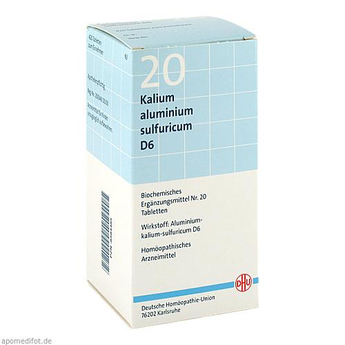 BIOCHEMIE DHU 20 Kalium aluminium sulf. D 6 Tabl., 420 ST, Dhu-Arzneimittel GmbH & Co. KG