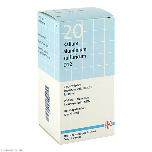 BIOCHEMIE DHU 20 Kalium aluminium sulf. D12 Tabl., 420 ST, Dhu-Arzneimittel GmbH & Co. KG