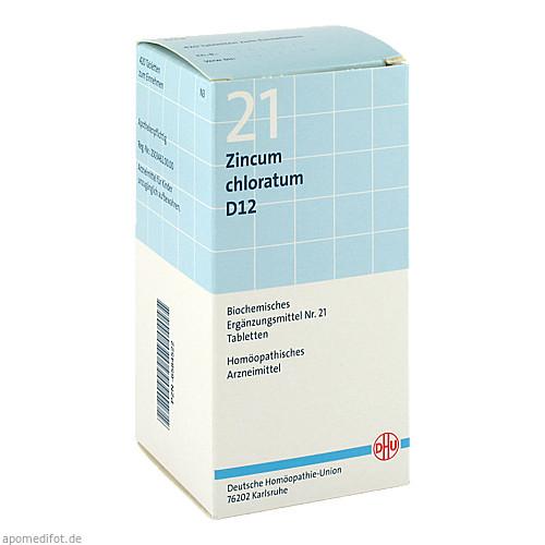 BIOCHEMIE DHU 21 Zincum chloratum D12 Tabl., 420 ST, Dhu-Arzneimittel GmbH & Co. KG