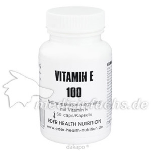 Vitamin E 100, 60 ST, Eder Health Nutrition