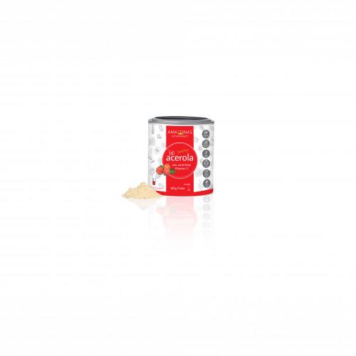 Acerola 100% Bio pur nat.Vit.C, 100 G, Amazonas Naturprodukte Handels GmbH