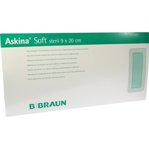ASKINA SOFT STERIL 9X20CM HYPOALLERGENER WUNDVERBA, 30 ST, B. Braun Melsungen AG