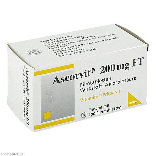 Ascorvit 200mg FT, 100 ST, Mibe GmbH Arzneimittel