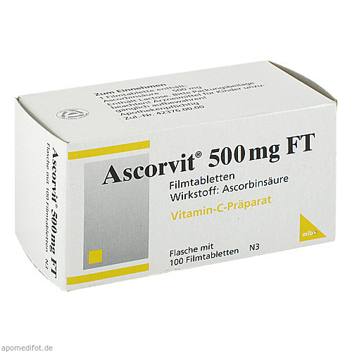 Ascorvit 500mg FT, 100 ST, Mibe GmbH Arzneimittel