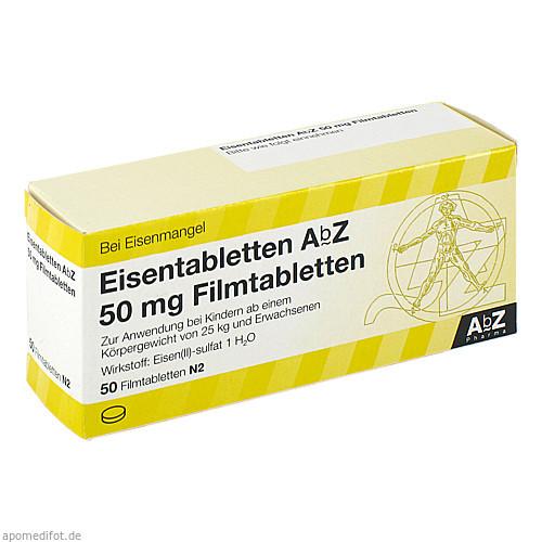 Eisentabletten AbZ 50 mg Filmtabletten, 50 ST, Abz-Pharma GmbH