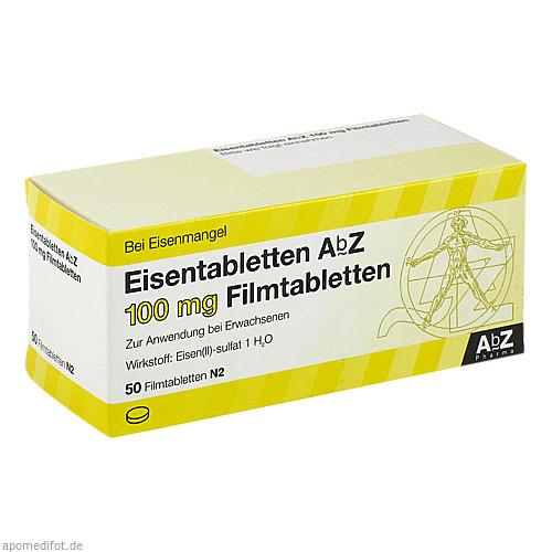 Eisentabletten AbZ 100 mg Filmtabletten, 50 ST, Abz Pharma GmbH