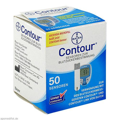 Contour Sensoren, 50 ST, Ascensia Diabetes Care Deutschland GmbH