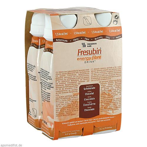 Fresubin energy fibre DRINK Schokolade Trinkflasch, 4X200 ML, Fresenius Kabi Deutschland GmbH