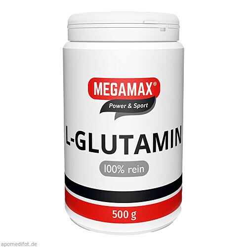 Glutamin 100% rein megamax, 500 G, Megamax B.V.