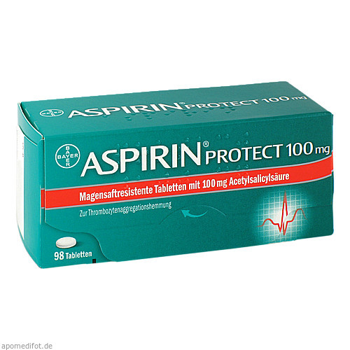 Aspirin protect 100mg, 98 ST, Bayer Vital GmbH GB Pharma