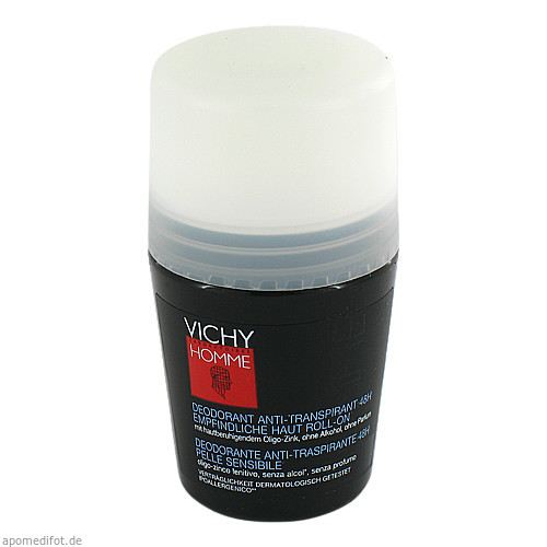Vichy Homme Deo Roll-On sensible Haut, 50 ML, L'oreal Deutschland GmbH