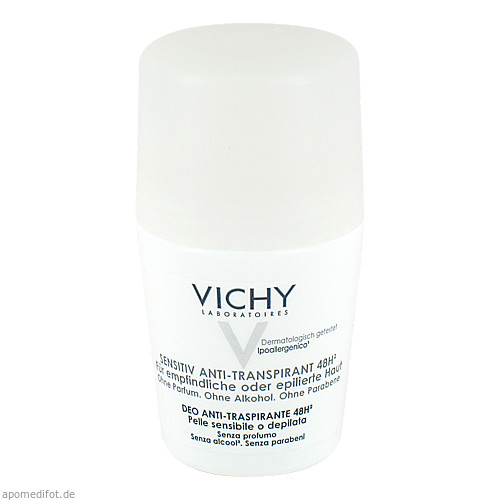Vichy Deo Roll-On Sensitiv Anti-Trans. 48H, 50 ML, L'Oréal Deutschland GmbH