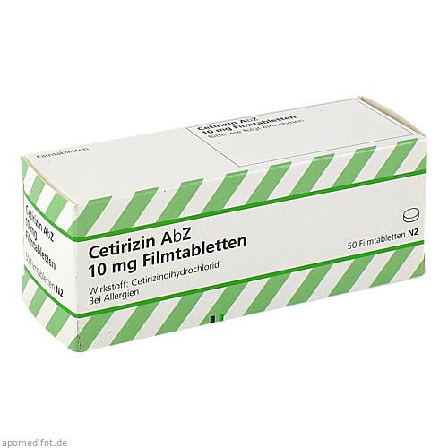 Cetirizin AbZ 10mg Filmtabletten, 50 ST, Abz Pharma GmbH