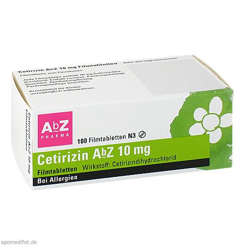 CETIRIZIN AbZ 10 mg Filmtabletten, 100 ST, AbZ Pharma GmbH