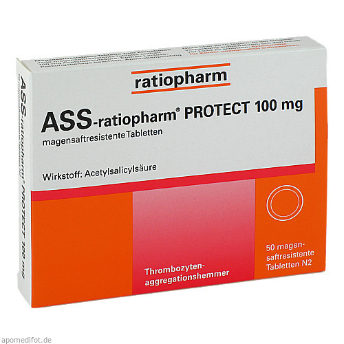 ASS-ratiopharm PROTECT 100mg, 50 ST, ratiopharm GmbH