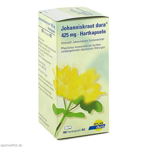 Johanniskraut dura 425mg Hartkapseln, 100 ST, Mylan dura GmbH
