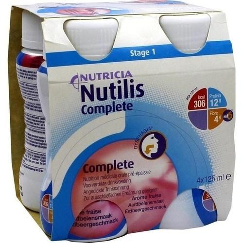 Nutilis Complete Erdbeergeschmack, 4X125 ML, Nutricia GmbH