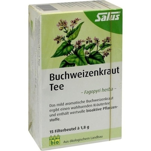 Buchweizenkraut Tee Fagopyri herba bio Salus, 15 ST, Salus Pharma GmbH