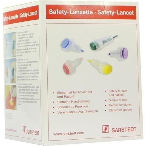 Safety-Lanzette 21G Normal grün Einstechtiefe1.8mm, 200 ST, Sarstedt AG & Co. KG
