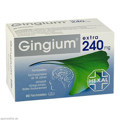 Gingium extra 240mg Filmtabletten, 80 ST, HEXAL AG