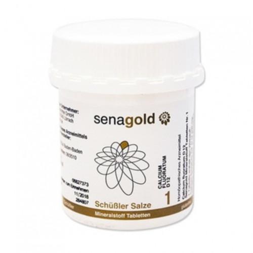 Biochemie Senagold Nr. 1 Calcium fluoratum D12, 400 ST, Senagold Naturheilmittel GmbH