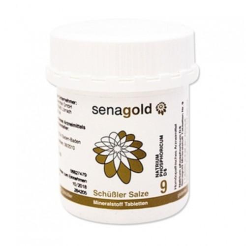 BIOCHEMIE Senagold 9 Natrium phosphoricum D 6 Tab., 400 ST, Senagold Naturheilmittel GmbH