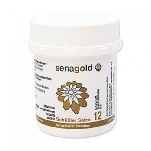 Biochemie Senagold Nr. 12 Calcium sulfuricum D 6, 400 ST, Senagold Naturheilmittel GmbH