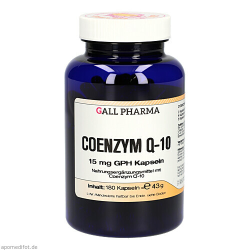 Coenzym Q-10 15mg GPH Kapseln, 180 ST, Hecht-Pharma GmbH