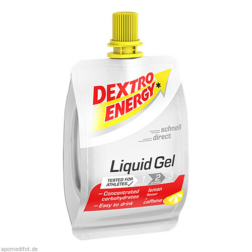 DEXTRO ENERGY Sports Nutri.Liquid Gel Lemon+Caffei, 60 ML, Kyberg Pharma Vertriebs GmbH